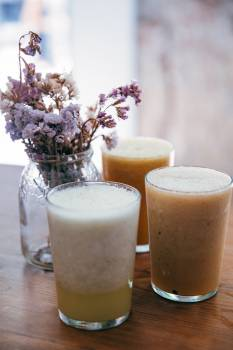 Smoothies With Flowers Free Photo #401728