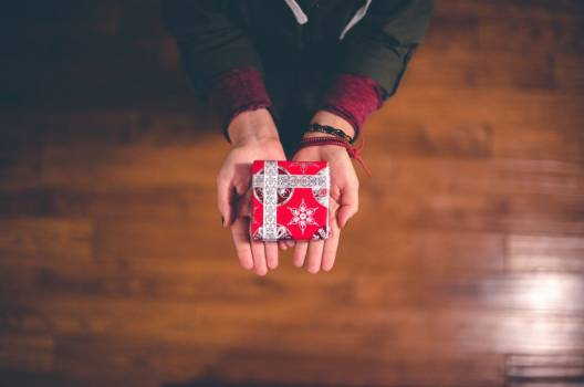 Small Christmas Parcel Hands Free Photo #401785