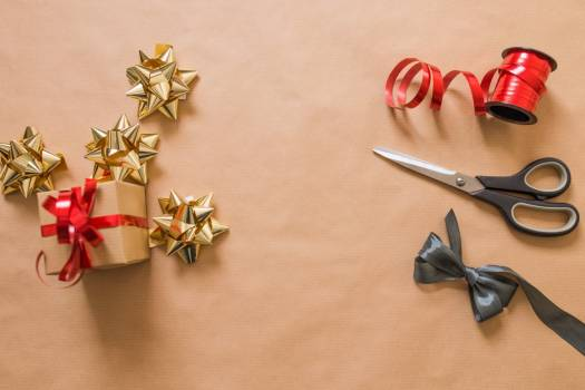 Red and Gold Christmas Ribbon Free Photo Free Photo