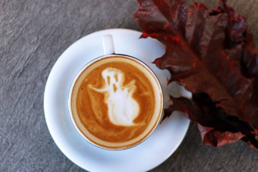 Coffee Ghost Cappuccino Halloween Free Photo #401930