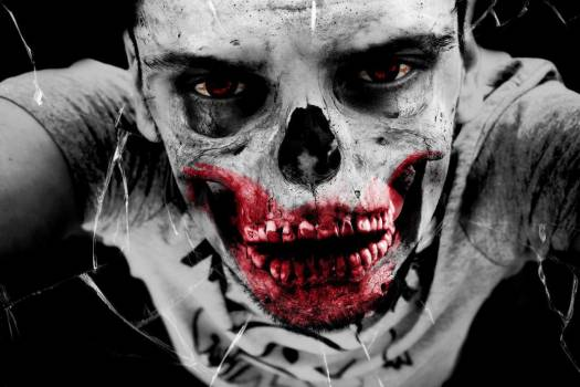 Zombie Blood Skeleton Halloween Free Photo #401935