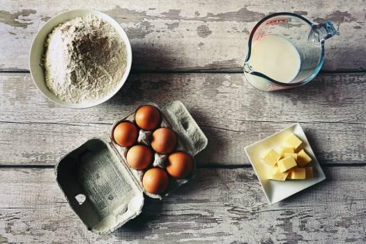 Eggs Milk Butter Flour Free Photo #401974