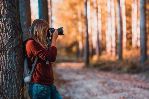 Female Photographer Woods Free Photo #401977