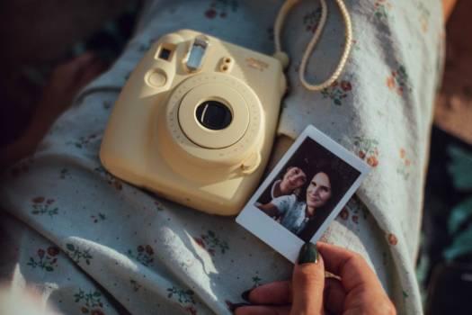 Woman Polaroid Camera Free Photo #402045