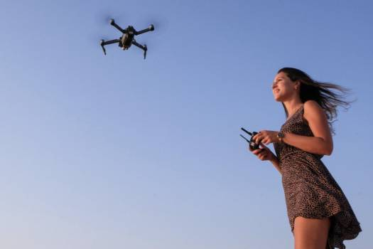 Woman Flying Drone Free Photo Free Photo