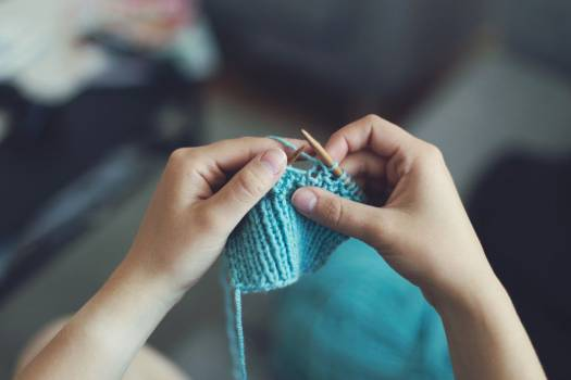 Woman Knitting Crafts Free Photo #402084