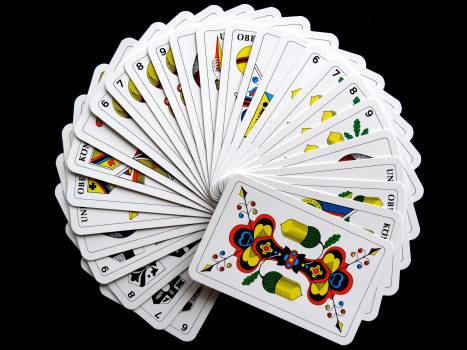White and Yellow Playing Cards #40212