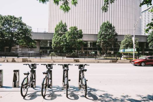 Rows Bicycles Street Free Photo #402162