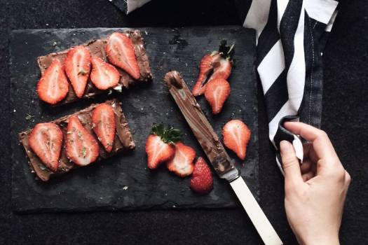Sliced Strawberry Chocolate Free Photo #402223