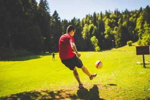 Kicking Soccer Ball Free Photo #402245