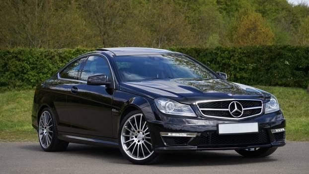 Black Mercedes Benz Coupe #40224