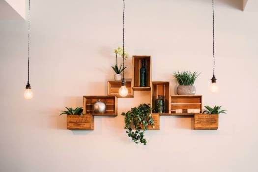 Rustic Shelves Lights Free Photo #402266