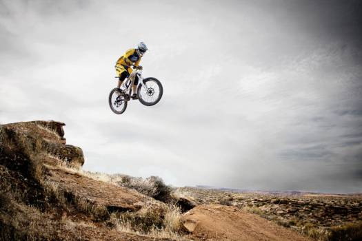 Mountain Bike Stunt Rock Free Photo #402595