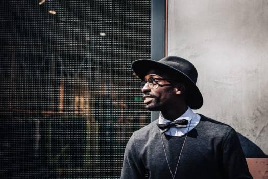 Man Hat Bowtie Glasses Free Photo #402634