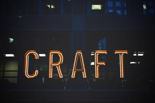 Craft Neon Sign Free Photo #402729