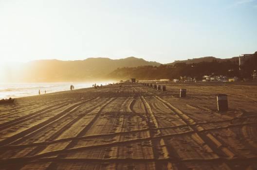 Sunset Beach Tracks Free Photo Free Photo