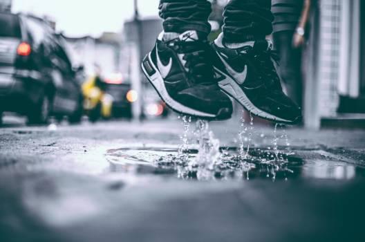 Nike Sneakers Man Jump Free Photo Free Photo