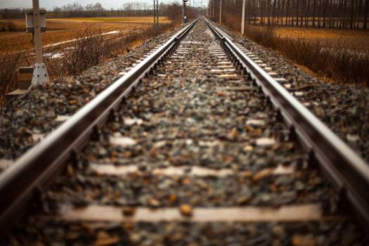 Railway Track Train Winter Free Photo Free Photo