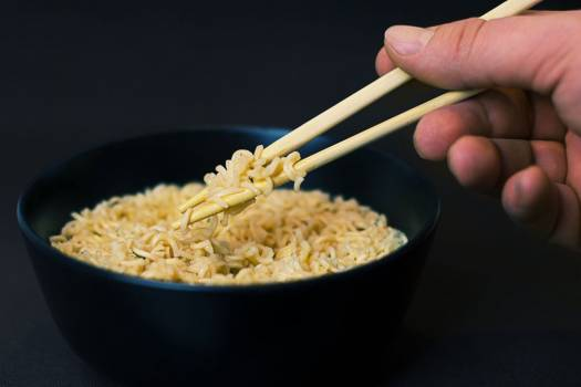 Black Bowl Noodles Chopsticks Free Photo #402969