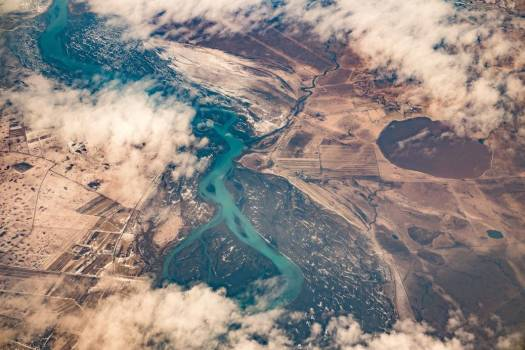 Aerial View Mountains River Free Photo #402971