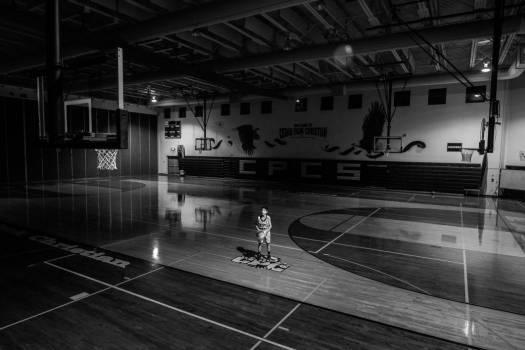 Boy Basketball Gym Black White Free Photo Free Photo