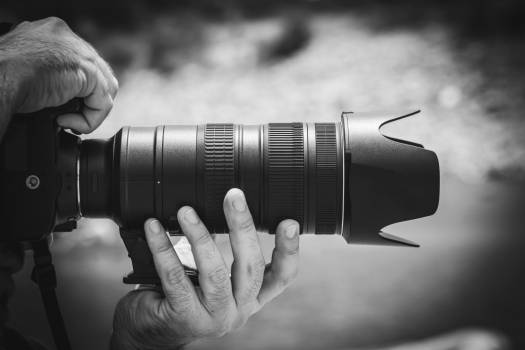 Black White Camera Lens Man Free Photo #403127