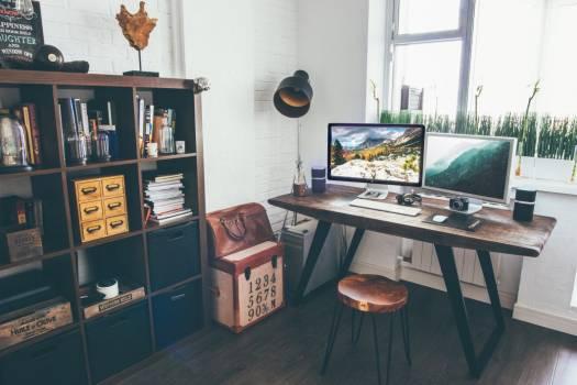 Laptop Camera Office Desk Wood Free Photo #403144