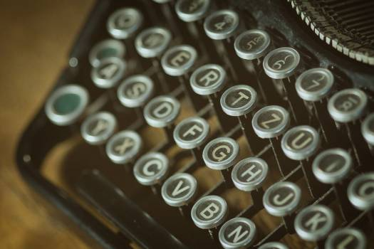 Closeup Vintage Typewriter Free Photo #403147