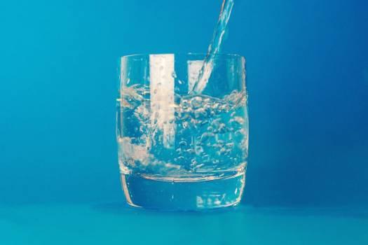 Glass Water Minimal Blue Free Photo #403186
