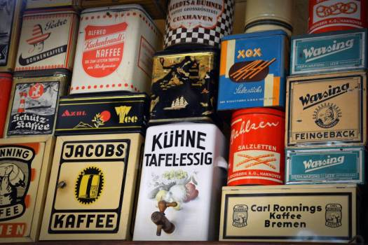 Vintage Coffee Tins Free Photo #403244