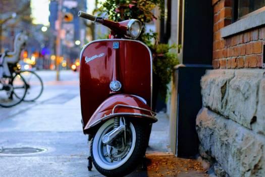 Red Vespa Street Free Photo #403259