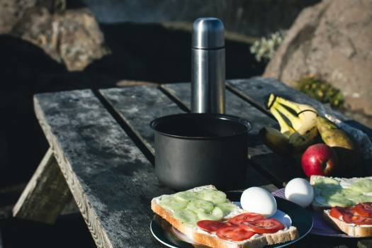 Camping Breakfast Nature Mountains Free Photo #403276