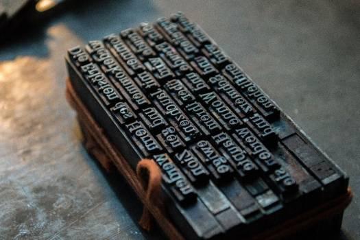 Typography Print Press Free Photo #403332