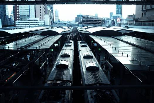 Overhead Train Station Free Photo Free Photo