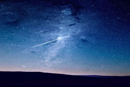 Shooting Star Universe Night Free Photo #403380
