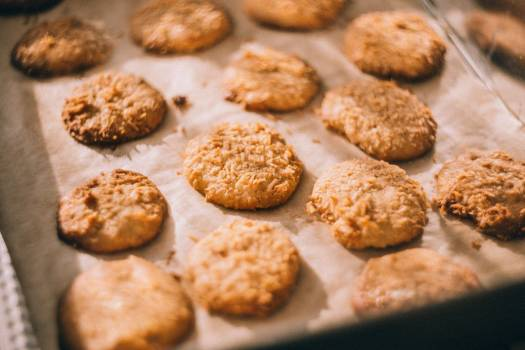 Homemade Cookies Oven Tray Free Photo Free Photo