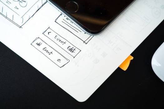 Wireframe Web Design iPhone Mouse Free Photo #403450
