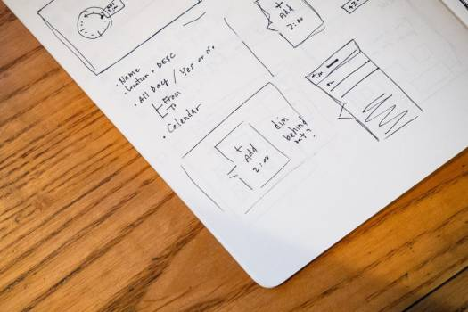 Notebook Wireframe Sketch Free Photo #403461