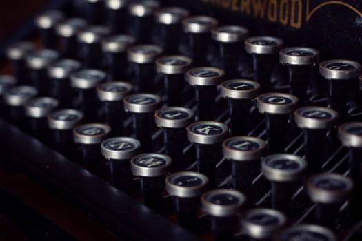 Closeup Vintage Typewriter Keys Free Photo #403471