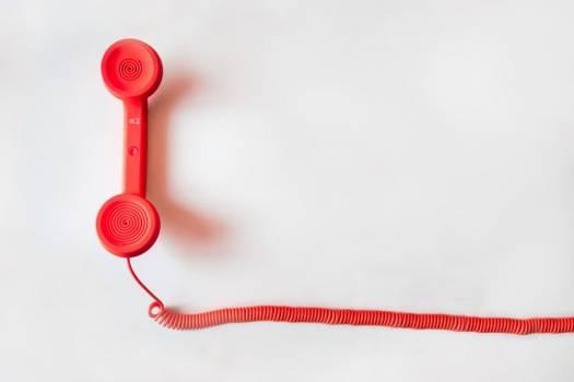 Red Retro Telephone Minimal Free Photo #403489