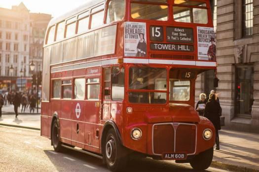 Vintage Red London Bus Free Photo #403530