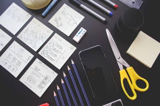 Stationary & Web Design Wireframe Free Photo #403569