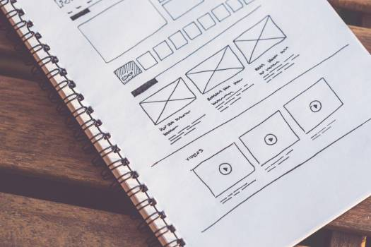 Web Design Wireframes on Paper Free Photo Free Photo