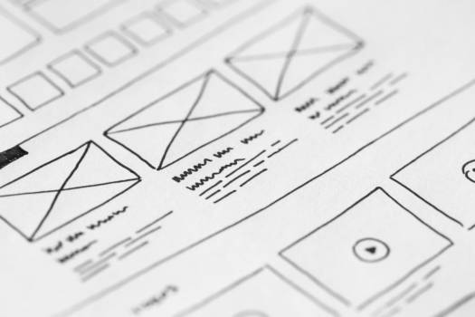 Web Design Layout Sketch on Paper Free Photo #403572