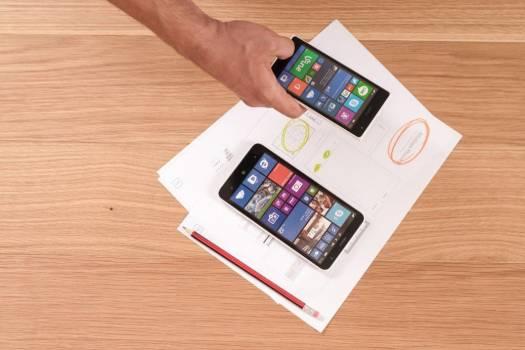 Windows Phone & Paper Wireframes Free Photo #403581