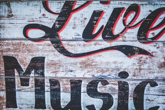 Live Music Rustic Sign Free Photo #403600