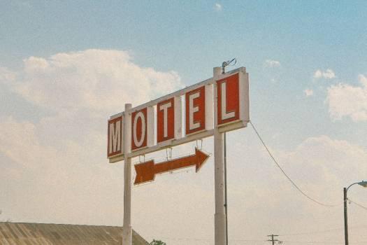 Retro Motel Arrow Sign Free Photo #403637