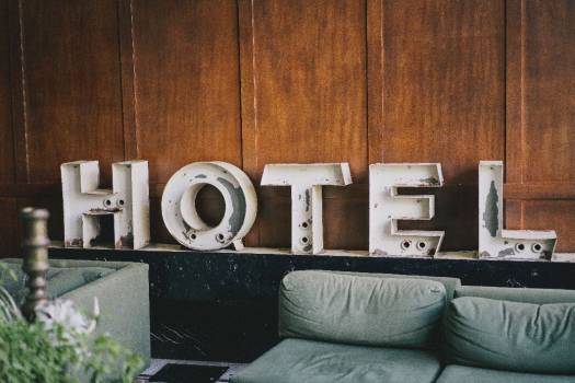 Old Hotel White Sign Free Photo #403655