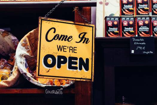 Come in We Are Open Sign Free Photo #403657
