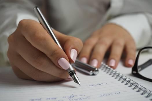 Woman Writing Notepad Free Photo #403659